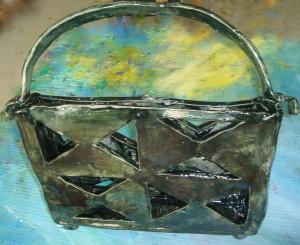 Keramikobjekt Tasche